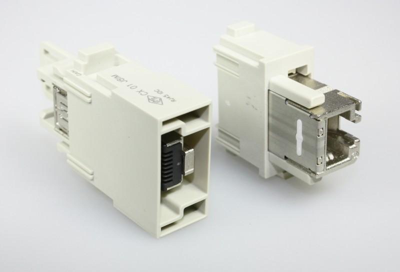RJ45 module voor snelle verbinding met IDC-aansluiting